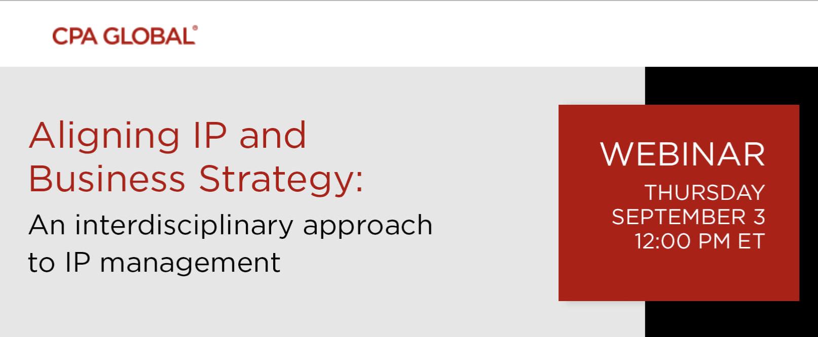 """Upcoming Seminar """"Aligning IP & Business Strategy"""""""